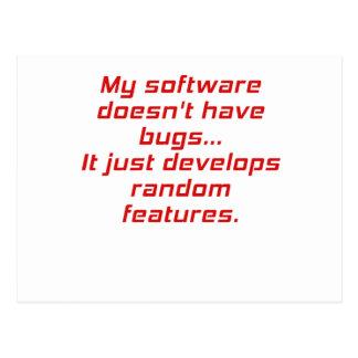 Mi software no tiene insectos tarjeta postal