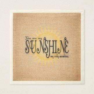 Mi sol en la arpillera servilleta de papel