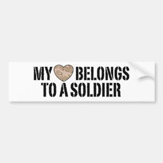 Mi soldado del corazón pegatina de parachoque