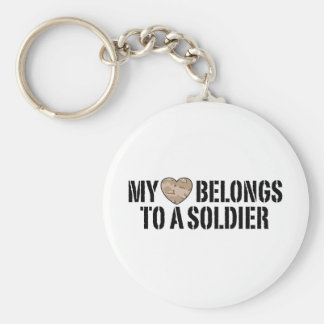 Mi soldado del corazón llavero redondo tipo pin