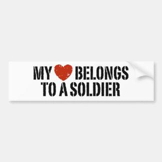 Mi soldado del corazón pegatina para auto