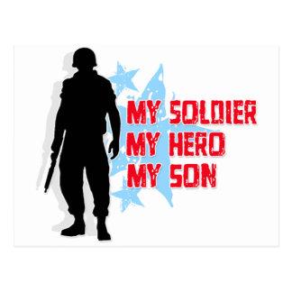 Mi soldado, mi héroe, mi hijo postal