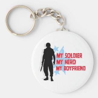 Mi soldado, mi héroe, mi novio llavero redondo tipo pin