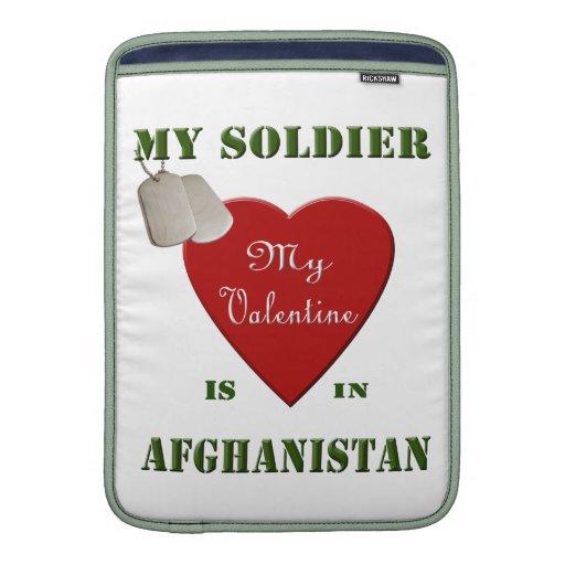 Mi soldado, mi manga de Macbook de la tarjeta del  Fundas Macbook Air