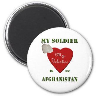 Mi soldado, mi tarjeta del día de San Valentín Imán Redondo 5 Cm