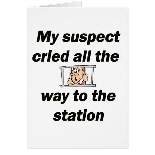 Mi sospechado llorado tarjeta de felicitación