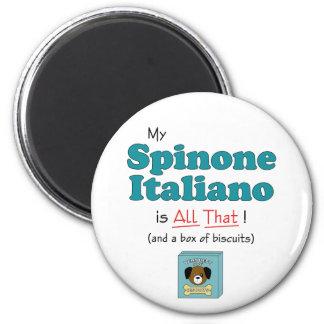 ¡Mi Spinone Italiano es todo el eso! Imán Para Frigorifico