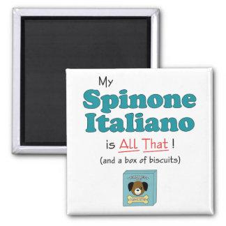 ¡Mi Spinone Italiano es todo el eso! Imanes De Nevera