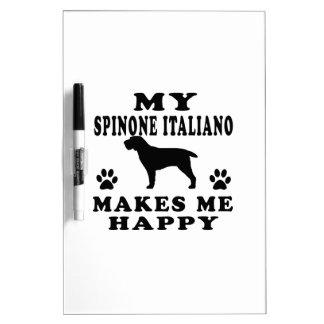 Mi Spinone Italiano me hace feliz Tableros Blancos