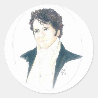 Mi Sr. Darcy Pegatina Redonda