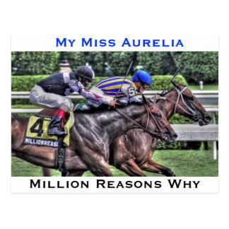 "Mi Srta. Aurelia ""el Adirondack "" Postales"