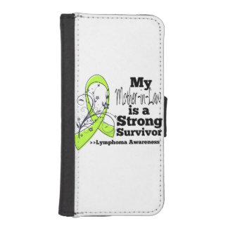 Mi suegra es un superviviente fuerte del linfoma funda tipo billetera para iPhone 5
