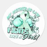 Mi suegra lucha como un trullo del chica (t) etiquetas redondas
