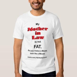 Mi suegra no es FAT. (luz) Playeras