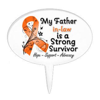 Mi suegro es un naranja fuerte del superviviente figura de tarta