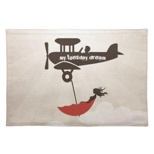 Mi sueño de martes - fantasía del paraguas manteles individuales