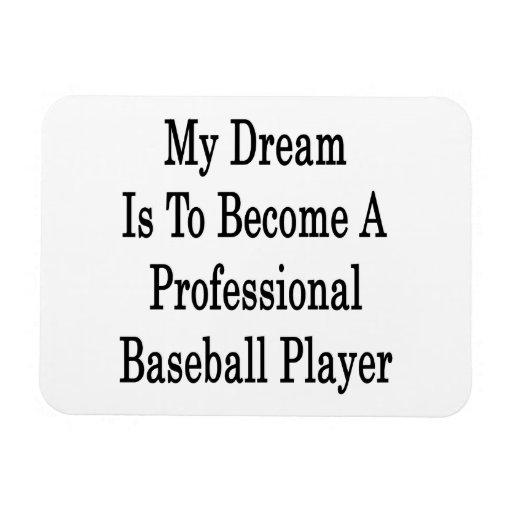 Mi sueño es convertirse en un juego de béisbol pro iman flexible