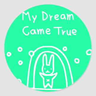 Mi sueño vino verdad etiquetas redondas