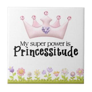Mi superpoder es princessitude azulejo cuadrado pequeño