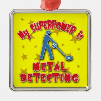 Mi superpotencia es detección del metal adornos de navidad