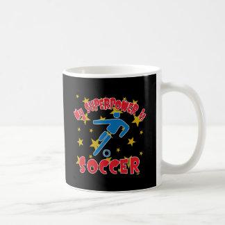 Mi superpotencia es fútbol taza de café