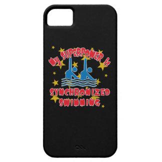 Mi superpotencia es natación sincronizada iPhone 5 fundas