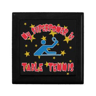 Mi superpotencia es tenis de mesa caja de joyas