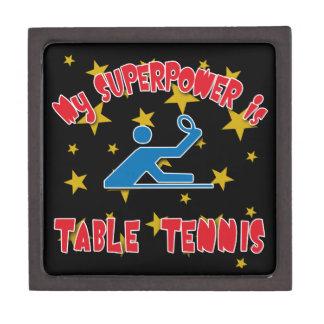 Mi superpotencia es tenis de mesa caja de regalo de calidad
