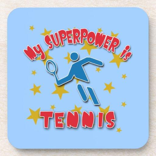 Mi superpotencia es tenis posavasos de bebidas