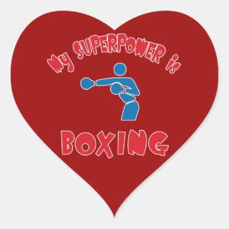 Mi superpotencia está encajonando pegatina en forma de corazón