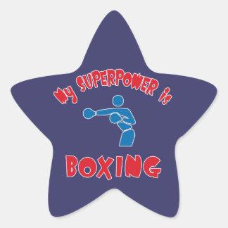 Mi superpotencia está encajonando pegatina en forma de estrella