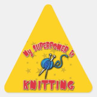Mi superpotencia está haciendo punto pegatina triangular