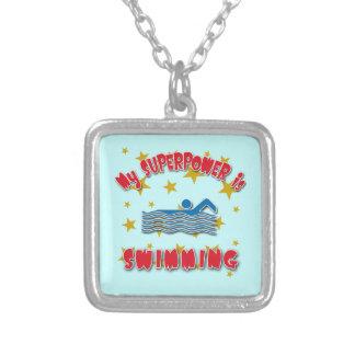 Mi superpotencia está nadando colgante cuadrado