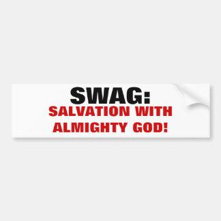 Mi Swag es salvación con DIOS Pegatina De Parachoque