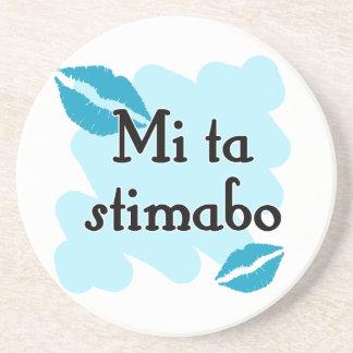 Mi ta stimabo - Papiamento I love you Beverage Coaster