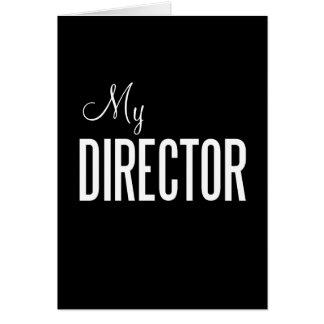 Mi tarjeta de felicitación del director