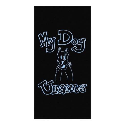 Mi tarjeta de la foto de Urano del perro Tarjeta Personal Con Foto