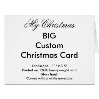 Mi tarjeta de Navidad de encargo grande del