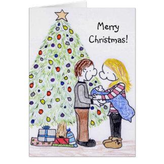 Mi tarjeta de Navidad de la familia de la gente