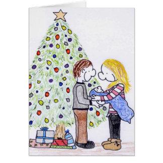 Mi tarjeta de Navidad del espacio en blanco de la
