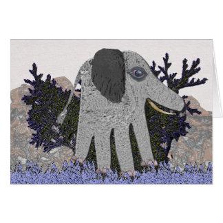 Mi tarjeta de nota del elefante del bebé