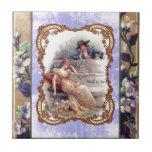 Mi tarjeta del día de San Valentín del Victorian Azulejo Ceramica
