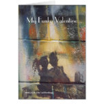 Mi tarjeta del día de San Valentín enrrollada, tar