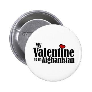 Mi tarjeta del día de San Valentín está en Afganis Pin Redondo De 2 Pulgadas