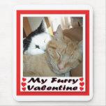 Mi tarjeta del día de San Valentín peluda Alfombrilla De Ratón