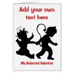 Mi tarjeta del día de San Valentín reacia