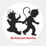 Mi tarjeta del día de San Valentín reacia Pegatinas Redondas