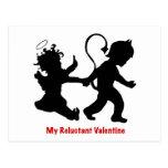 Mi tarjeta del día de San Valentín reacia Postales