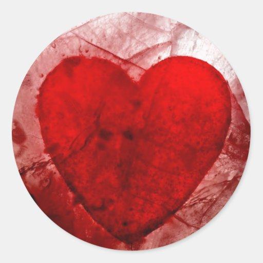 Mi tarjeta del día de San Valentín sangrienta Pegatina Redonda