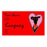 Mi tarjeta del día de San Valentín Plantilla De Tarjeta De Negocio